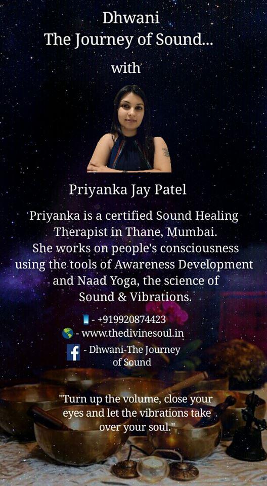 Priyanka Jay Patel Mystic Lotus Sound Therapy Mumbai